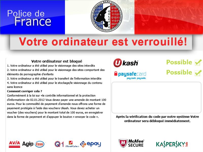 Flagui FR %2809 2012%29 Supprimer Votre Ordinateur est Bloqué Virus